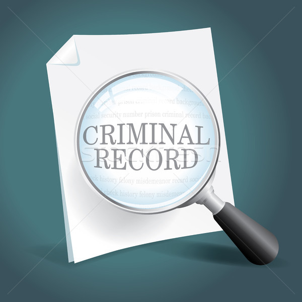 Criminal registro toma cerca mirar fondo Foto stock © enterlinedesign