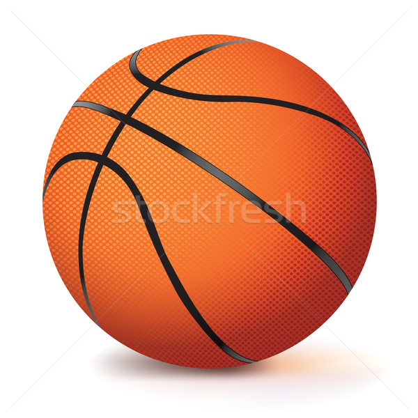 Realistic Vector Basketball Isolated on White Stock photo © enterlinedesign