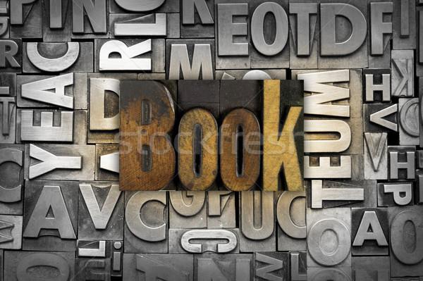 ストックフォト: 図書 · 言葉 · 書かれた · ヴィンテージ · タイプ