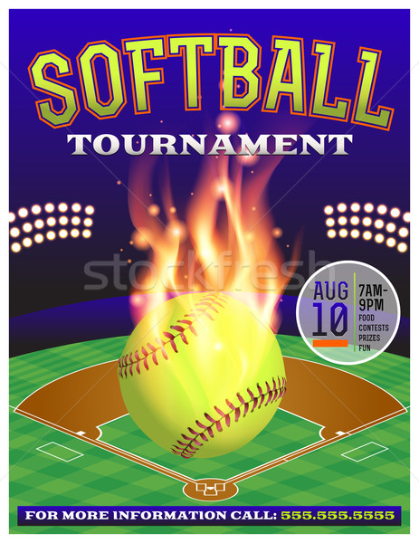 Softball Tournament Illustration Stock photo © enterlinedesign