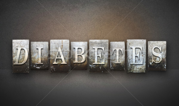 Diabetes palabra escrito vintage tipo Foto stock © enterlinedesign