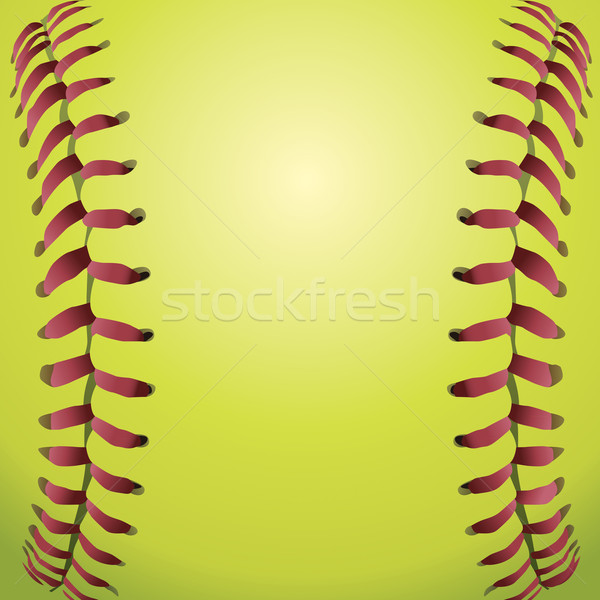 Softball illustration vecteur eps 10 Photo stock © enterlinedesign