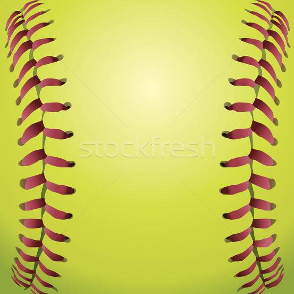 Softball Laces Closeup Background Illustration Stock photo © enterlinedesign