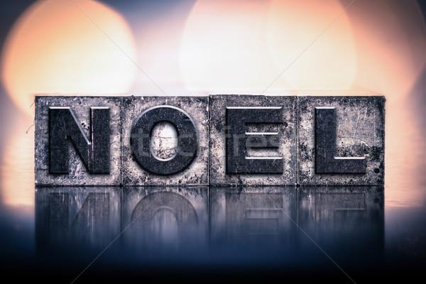 Noel Concept Vintage Letterpress Type Stock photo © enterlinedesign
