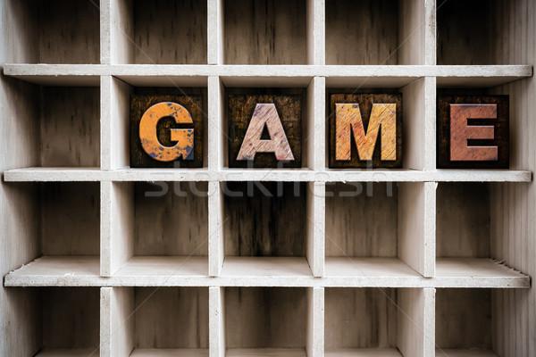 Stok fotoğraf: Oyun · ahşap · tip · çekmek · kelime