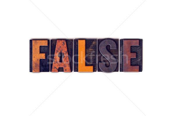 Falso isolado tipo palavra escrito Foto stock © enterlinedesign