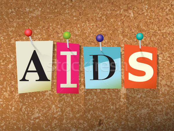 AIDS Concept Pinned Letters Illustration Stock photo © enterlinedesign