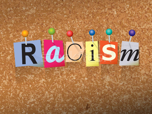 Racism Concept Pinned Letters Illustration Stock photo © enterlinedesign