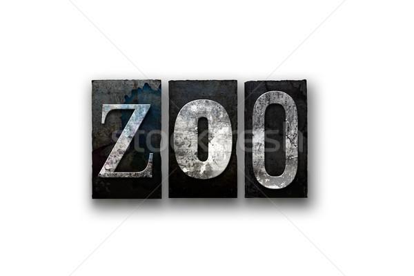 Dierentuin geïsoleerd type woord geschreven Stockfoto © enterlinedesign