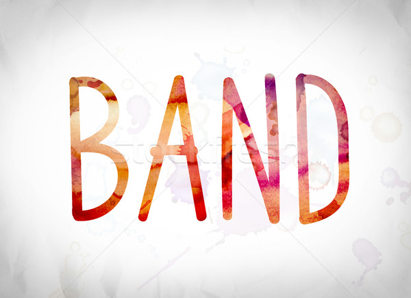 Band Concept Watercolor Word Art Stock photo © enterlinedesign