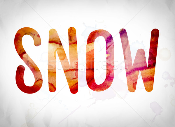 Snow Concept Watercolor Word Art Stock photo © enterlinedesign
