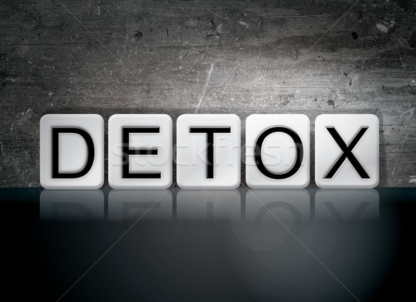 Detox Tiled Letters Concept and Theme Stock photo © enterlinedesign
