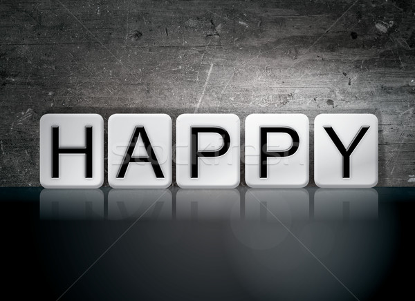 Happy Tiled Letters Concept and Theme Stock photo © enterlinedesign