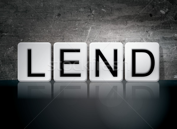 Lend Tiled Letters Concept and Theme Stock photo © enterlinedesign