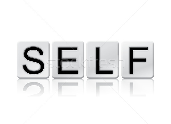 Self Isolated Tiled Letters Concept and Theme Stock photo © enterlinedesign