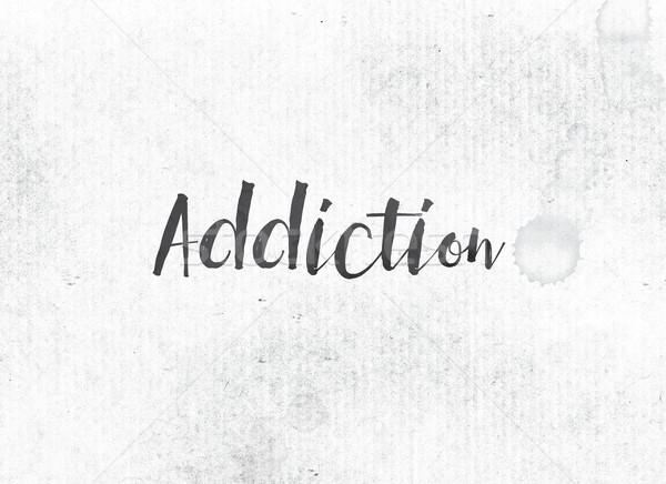 Addiction Concept Painted Ink Word and Theme Stock photo © enterlinedesign
