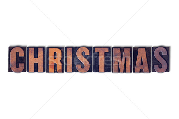 Christmas Concept Isolated Letterpress Word Stock photo © enterlinedesign