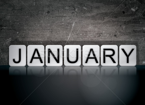 January Concept Tiled Word Stock photo © enterlinedesign