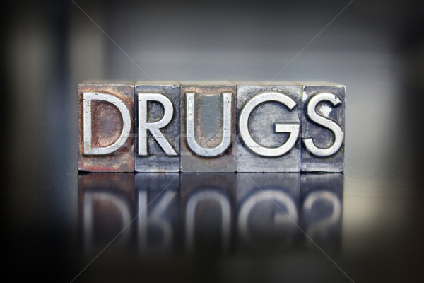 Drugs Letterpress Stock photo © enterlinedesign