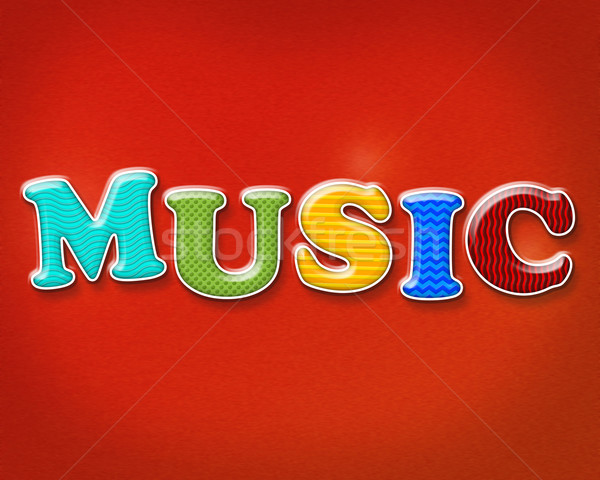 Colorful Music Theme Stock photo © enterlinedesign
