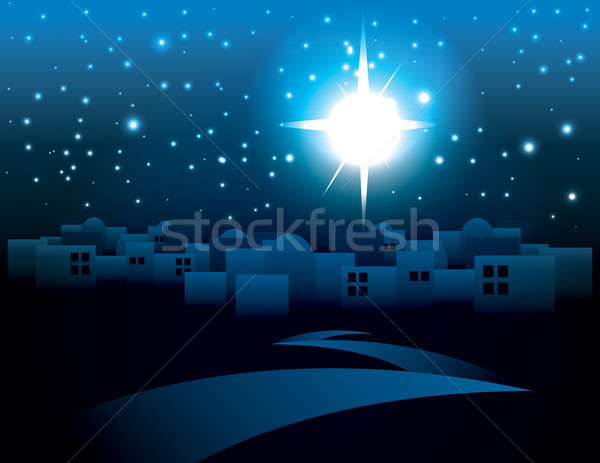 Bethlehem Christmas Star Illustration Stock photo © enterlinedesign