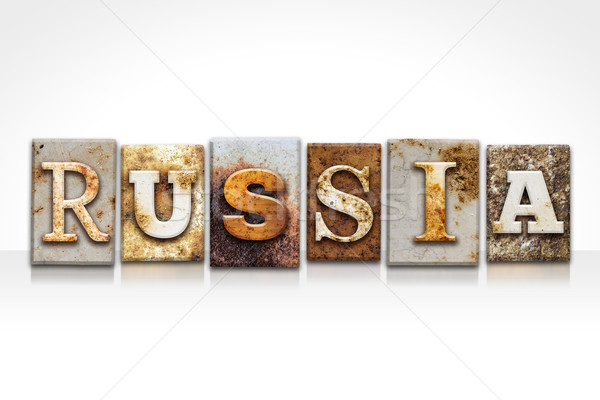 Rusia aislado blanco palabra escrito Foto stock © enterlinedesign