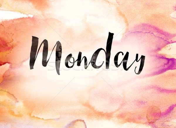 Monday Concept Watercolor Theme Stock photo © enterlinedesign