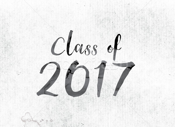 Class of 2017 Concept Painted in Ink Stock photo © enterlinedesign