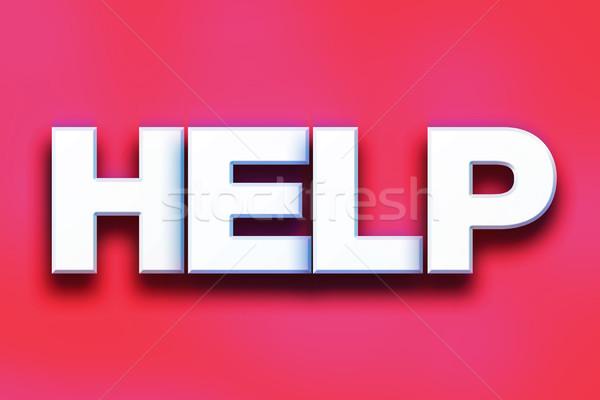 Help colorato parola arte scritto bianco Foto d'archivio © enterlinedesign