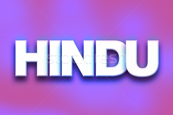 Hindu Concept Colorful Word Art Stock photo © enterlinedesign