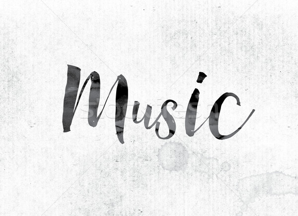 Music Concept Painted in Ink Stock photo © enterlinedesign