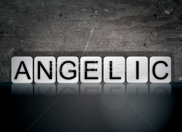Angelic Concept Tiled Word Stock photo © enterlinedesign