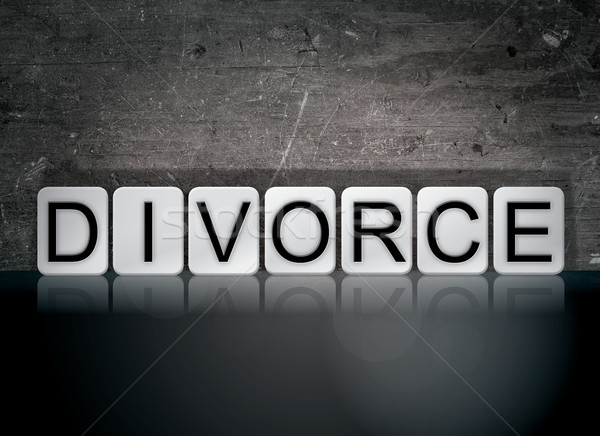 Divorce Concept Tiled Word Stock photo © enterlinedesign