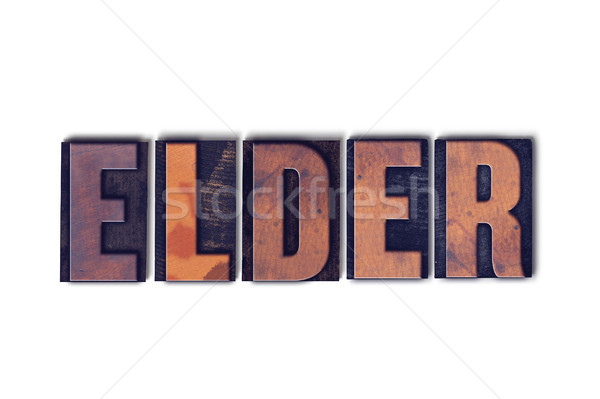 Elder Concept Isolated Letterpress Word Stock photo © enterlinedesign