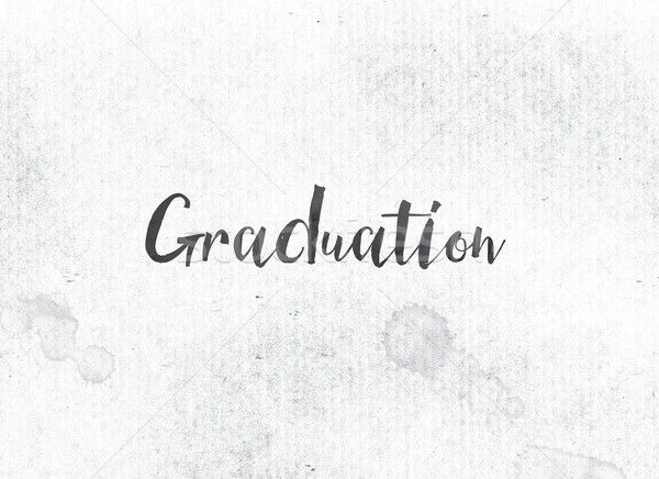 Graduation Concept Painted Ink Word and Theme Stock photo © enterlinedesign