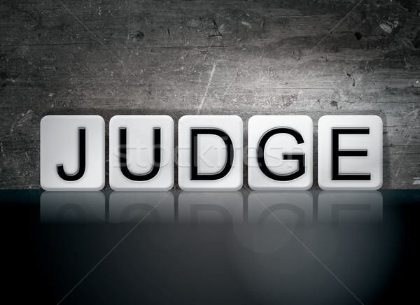 Judge Concept Tiled Word Stock photo © enterlinedesign