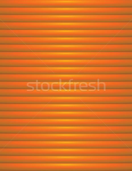 Abstract Orange Ribbed Background Illustration Stock photo © enterlinedesign
