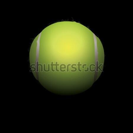 Bola de tênis ilustração escondido sombras vetor eps Foto stock © enterlinedesign