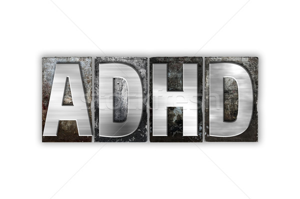 ADHD Concept Isolated Metal Letterpress Type Stock photo © enterlinedesign