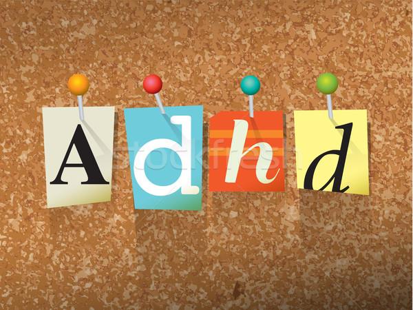 Papel ilustración palabra escrito corte nota Foto stock © enterlinedesign