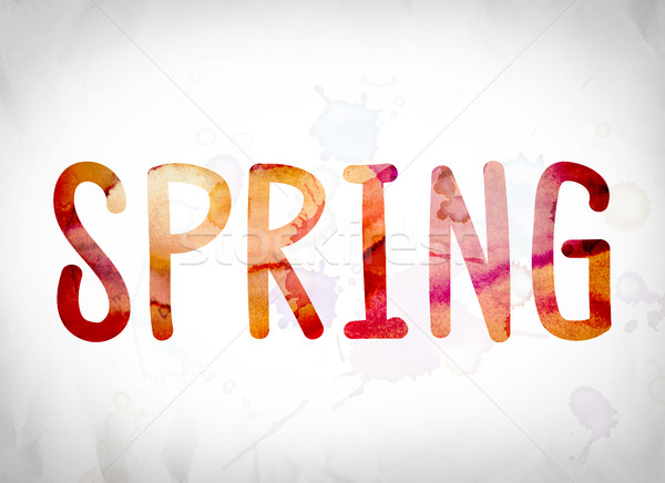 Spring Concept Watercolor Word Art Stock photo © enterlinedesign