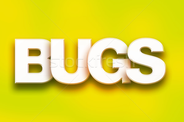 Bugs Concept Colorful Word Art Stock photo © enterlinedesign