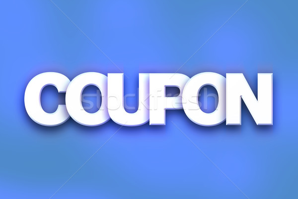 Coupon Concept Colorful Word Art Stock photo © enterlinedesign