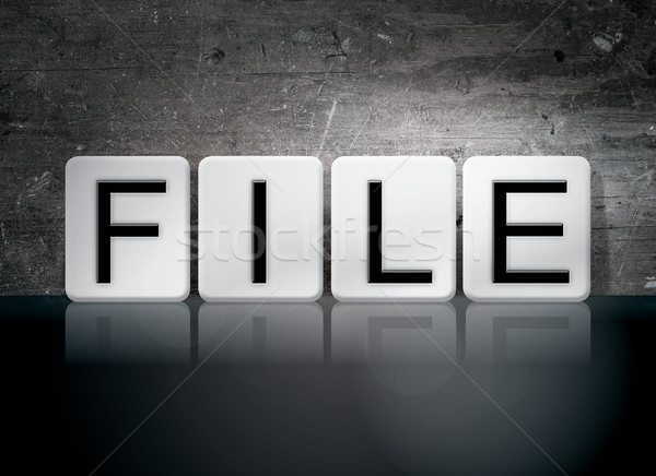 File Tiled Letters Concept and Theme Stock photo © enterlinedesign