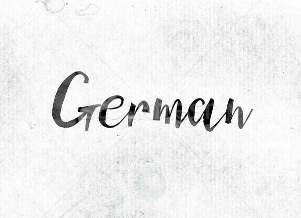 German Concept Painted in Ink Stock photo © enterlinedesign