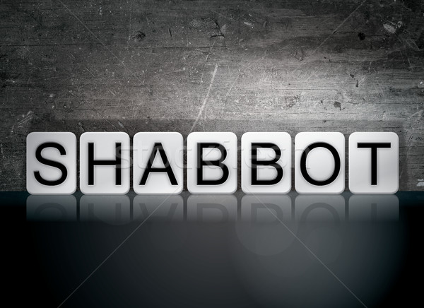 Shabbot Tiled Letters Concept and Theme Stock photo © enterlinedesign