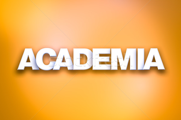 Academia Theme Word Art on Colorful Background Stock photo © enterlinedesign