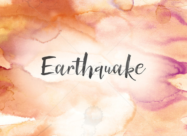 Earthquake Concept Watercolor and Ink Painting Stock photo © enterlinedesign