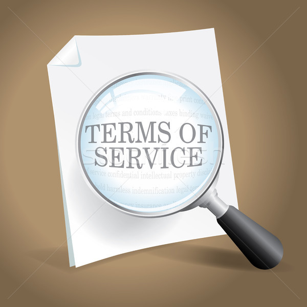 Reviewing Terms of Service Stock photo © enterlinedesign