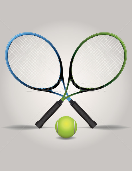Tennis Racquets and Ball Illustration Stock photo © enterlinedesign